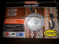 POWERFIX CHAIN HOIST - LIFTING HEIGHT APPROX 3m - LOAD CAPACITY 1000 kg