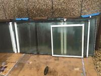 Toughened glass sections from roof