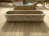 Handmade wooden planters Octagon