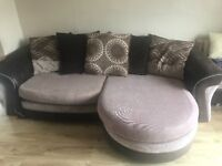4 seater lounger sofa with large swivel sofa