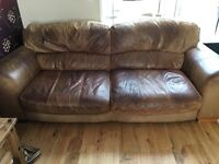4 seater full leather sofa - need gone asap!!
