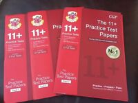 Unused 11+ practice Test Paper for the Cem test by GP books - 3 Packs
