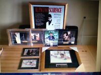 Scarface film cells/godfather filmcells/muhammad ALi frames/scarface frames/king of pop-£10