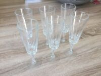 Champagne Glasses x 6