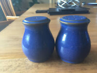 Denby Imperial Blue Salt & Pepper Pots
