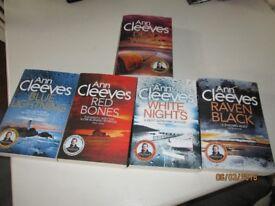 Ann Cleeves Shetland Series Books VGC