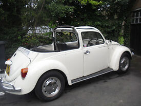 Classic vw beetle convertable
