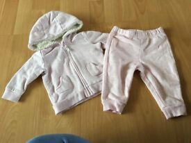 Baby girl pink tracksuit