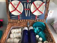 Picnic basket with everything in it