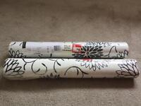 Black flower wallpaper 2 rolls