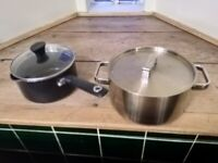 Medium and large cooking pots central London bargain
