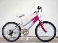 "(2097) 20"" RALEIGH GIRLS MOUNTAIN HYBRID BIKE BICYCLE Age: 6-9 Height: 120-135cm"