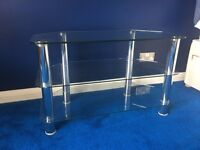 Glass TV Stand - superb condition