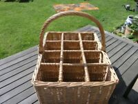 Quality Whicker Basket For 12 bottles Wine cost £60 Weymouth