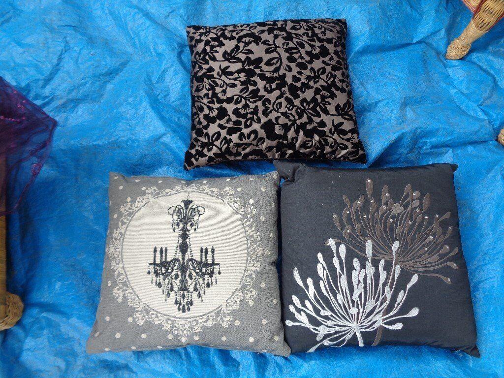 3 pretty cushions