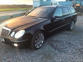 Mercedes E320 Cdi sport estate, 7 seats, black , very rare top spec extras, FMBSH