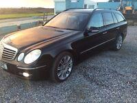 Mercedes E320 Cdi sport estate, 7 seats, black , very rare top spec extras, FMBSH