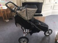 Baby Jogger City Classic Pram and Compact Carrycot, car seat adapter, manual & raincover.