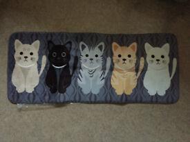 Plush indoor floor mat, cat design. New in bag. Gift idea??