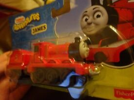 New Thomas and friends Adventures James train with carriage only £5 ideal gift
