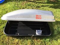 Mont Blanc Roof Box Cargo 320 Silver - 300 Litre
