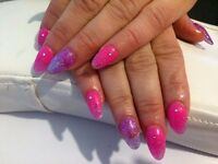 Acrylic nails, Gel nails, Gel polish, Manicure,Pedicure, Reiki treatment, Seated massage