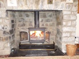 Villager Log Burner can be seen in situ. Good working order. Fairly large. £325 ono.