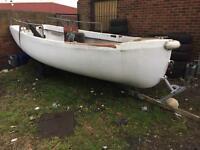 17ft fibreglass boat