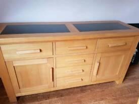 Oak granite side unit