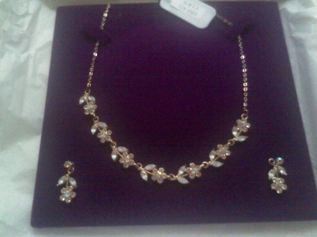 ONCE UPON A BRIDE NECKLACE AND EARRING SET