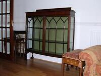 Display Cabinet, glazed-Bow front Edwardian 1900 -1910 £75