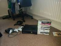 Xbox 360 250gb with 15 games