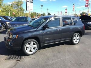 2014 JEEP COMPASS HIGH ALTITUDE - SUNROOF, HEATED LEATHER SEATS,