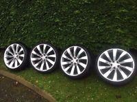 """18"""" turbine alloys 5x100 will fit subaru old skoda old Audi tt passat like deep.dish sccricoo"""