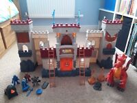 Imaginext castle and interactive dragon