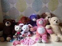 Build a bear:bargain bears and outfits bundle