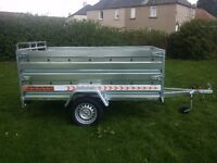 Trailers 7.7 x 4,1 double broadside and ramp £980 inc vat