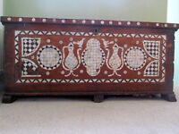 Beautiful Mother of Pearl Ottoman Chest Trunk in need of restoration