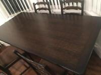 Solid oak ercol style dining table - NO CHAIRS INCLUDED
