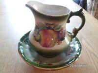 Ironstone jug & bowl washing set