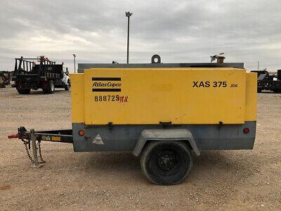 2011 Atlas Copco Xas 375 Cfm Towable Air Compressor Xas375