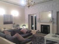 Grey Suede Sofology Corner Sofa - as new