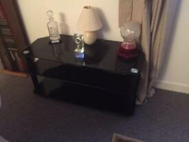 Glass TV/DVD Corner Unit