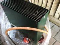 Eden Classic Green house heater. Runs on gas, fittings included