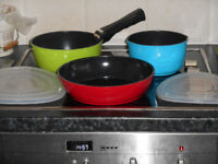 set of 3 pans, suitable for small kitchens and limited storage space,
