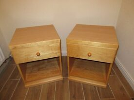 Matching pair of Solid bedside tables