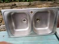 Kitchen Double Sink Bowl