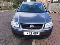 2003 Volkswagen Touran 1.6 FSI S MPV 5dr (7 Seats) Manual @07445775115
