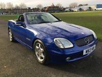 MERCEDES BENZ SLK 2.3 KOMPRESSOR CONVERTIBLE 2002 BLUE AUTOMATIC 1 OWNER FULL SERVICE HISTORY
