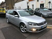 VW VOLKSWAGEN PASSAT 2.0 DIESEL BLUEMOTION 2012(62) ESTATE 1 FORMER OWNER MINT LEATHERS 2 KEYS